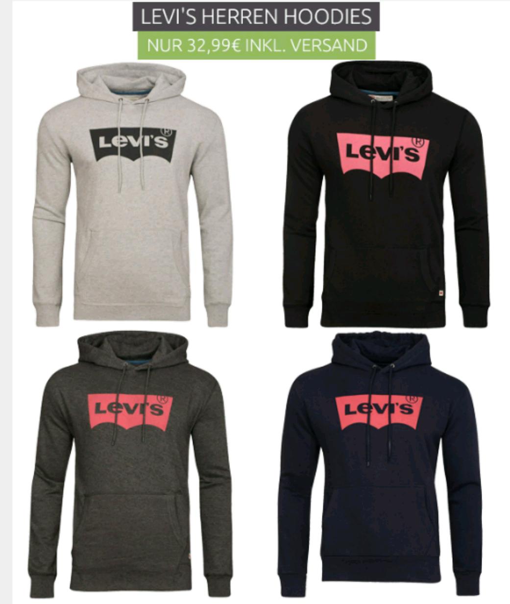 Levis Hoodie 4 Farben alle Größen 32,99€ (Preisvergleich 52€) Outlet46