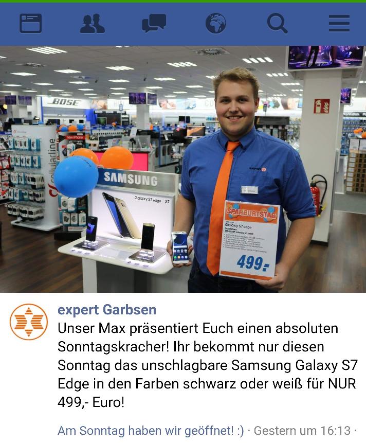 S7 Edge 499€ Expert in Garbsen (Lokal)