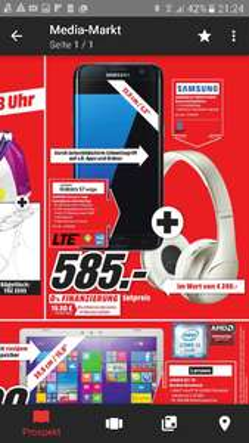 ( Lokal MM Trier ) Samsung Galaxy S7 Edge + Samsung EO-PN920CFEG Kopfhörer