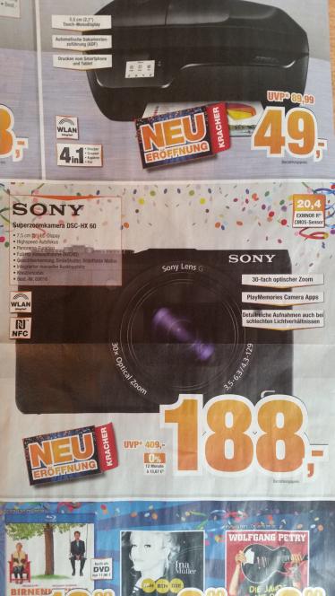 [Lokal] Osnabrück Expert Bening Digitalkamera Sony Cybershot DSC HX60 für 188€