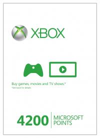 [CDkeys] Xbox Life 4200 Microsoft Points (Xbox 360) - Digital Download - VGP : 50 € - LEIDER AUSVERKAUFT !!