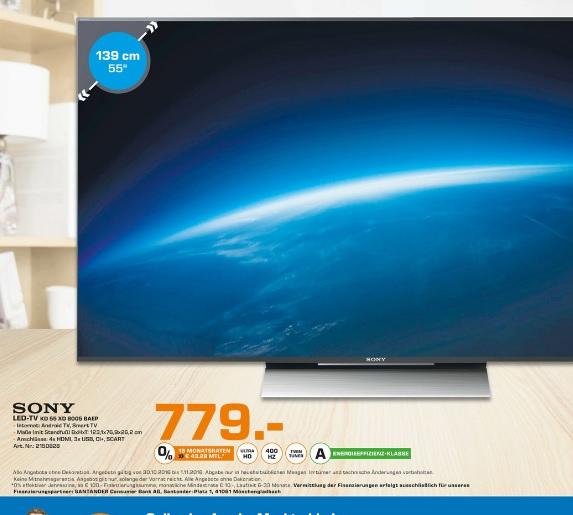 (Lokal) Sony KD-55XD8005 für 779€ @ Saturn Bielefeld