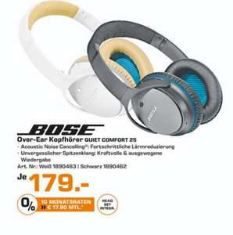 (lokal) Bose QuietComfort 25 für 179€ @ Saturn Bielefeld