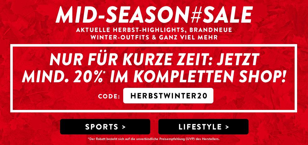MID-SEASON SALE bei OUTFITTER.de - 20% im kompletten Shop (Sport, Lifestyle)