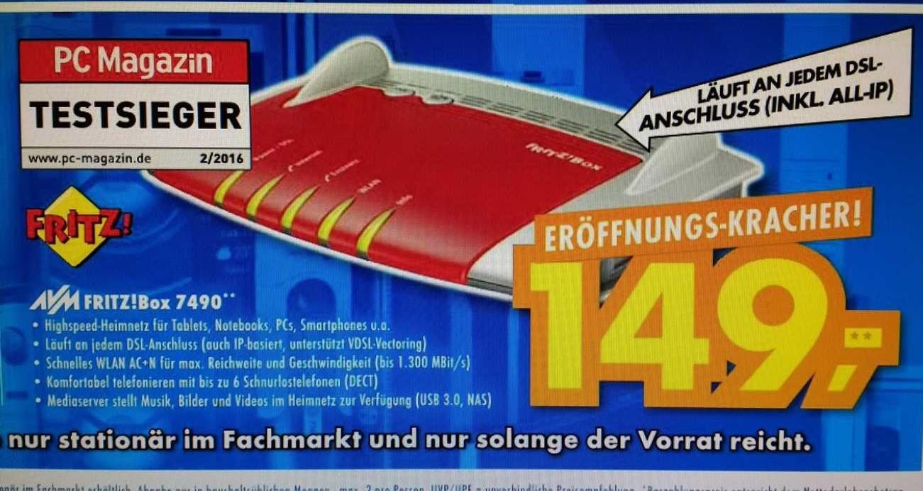 [Lokal Neu Ulm] AVM FRITZBox 7490 zu 149,00€ (Idealo 185€)oder MacBook Air 13 Modell 2016 799€ (idealo 914€) und vieles andere...lesen lohnt sich