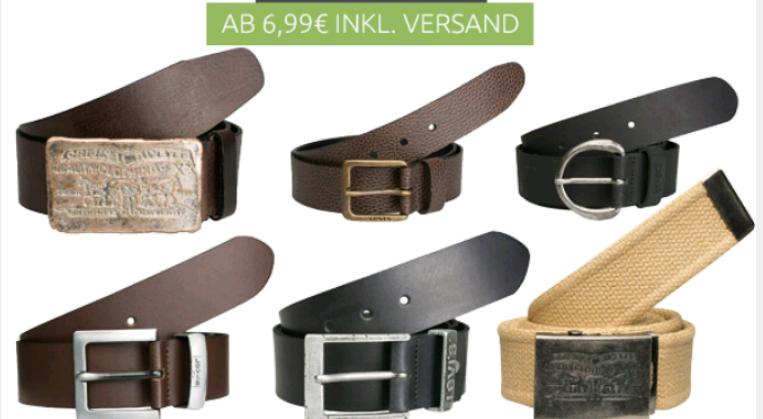 Levis Gürtel ab 6,99€ viele Modelle und Größen Outlet46