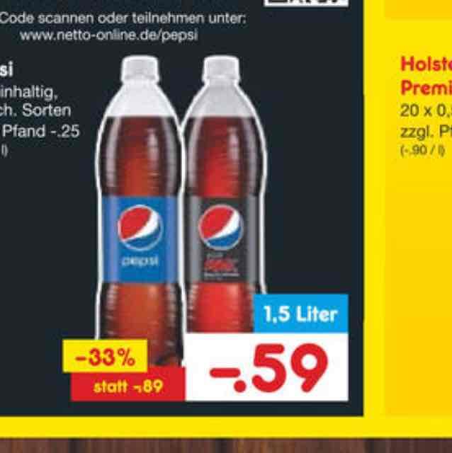 [Netto MD + Scondoo] Pepsi Cola 12x pro Account 0,27€ pro Liter