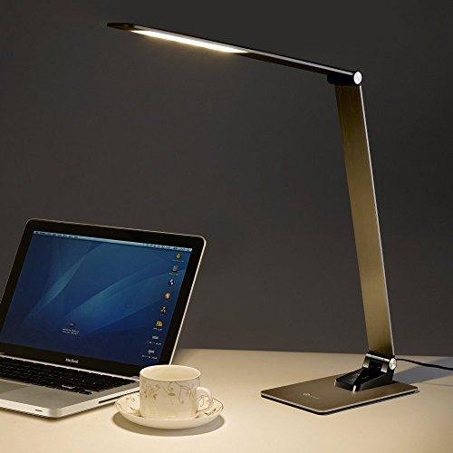 Schreibtischlampe TaoTronics Metall Tageslichtlampe 9W Touch-Control USB