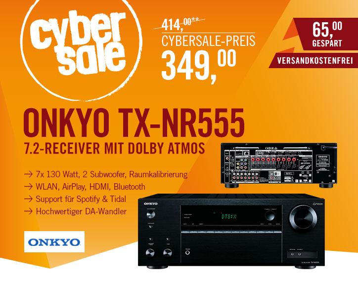 Onkyo TX-NR555 für 349€ - 7.2 Kanal-Receiver mit DTS:X, Dolby Atmos und FireConnect