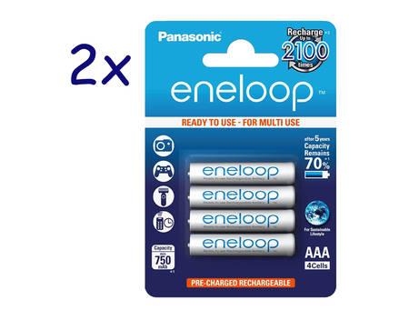 8x Panasonic Eneloop, Micro AAA Akku, NiMH, 800mAh