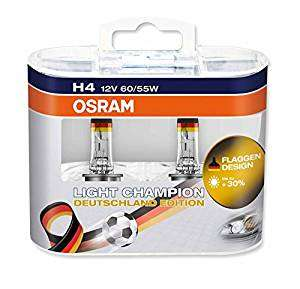 Osram Light Champion German Edition H4 für 1,72€ (Plus Produkt) bei Amazon statt 17€ bei Idealo und H7 für 6,16€