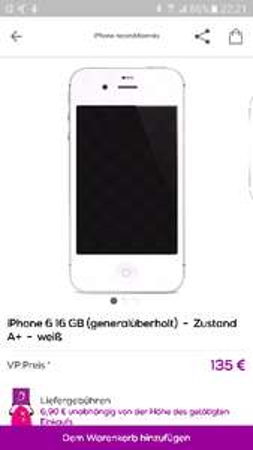 Falscher Titel: Iphone6 16Gb refurbished
