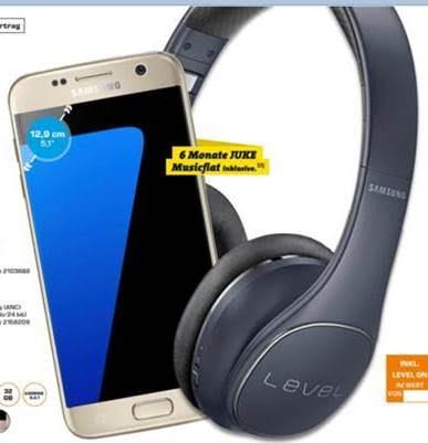 Bundesweit MM/SATURN • SAMSUNG Bundle Aktion ? S7 oder S7 Edge kaufen + Level On Wireless Pro Gratis on TOP dazu