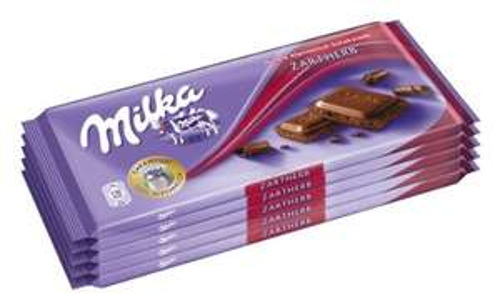 Milka Zartherb, Tafelschokolade, 5er Pack für 2,98€