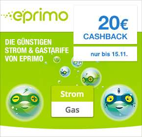 Eprimo Strom + 50€ Amazon.de Gutschein + 20€ Cashback über shoop.de