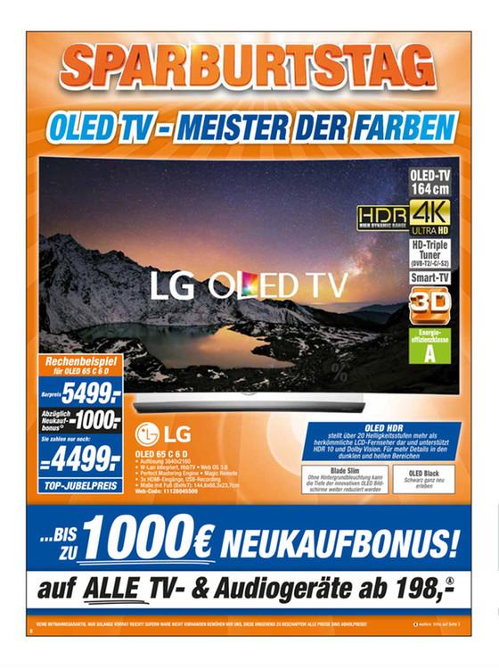 Über 300 EUR gespart? LG 65OLEDC6D 164 cm (65 Zoll) Curved OLED Fernseher / Lokal