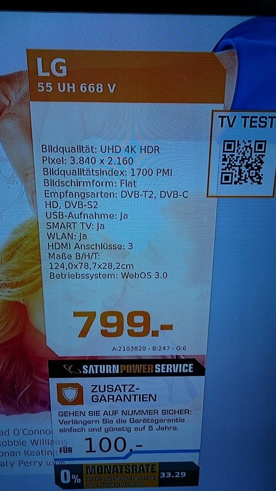 [LOKAL] SATURN BREMEN LG 55 UH 668V (PVG: 1059€)