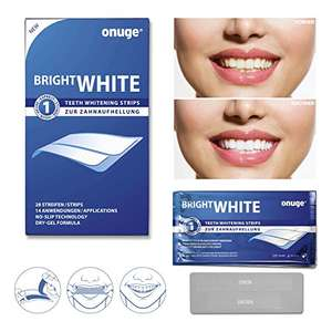 [Amazon] onuge Bright White-Strips, 28 Bleaching-Stripes zur Zahnaufhellung in 14 Tagen