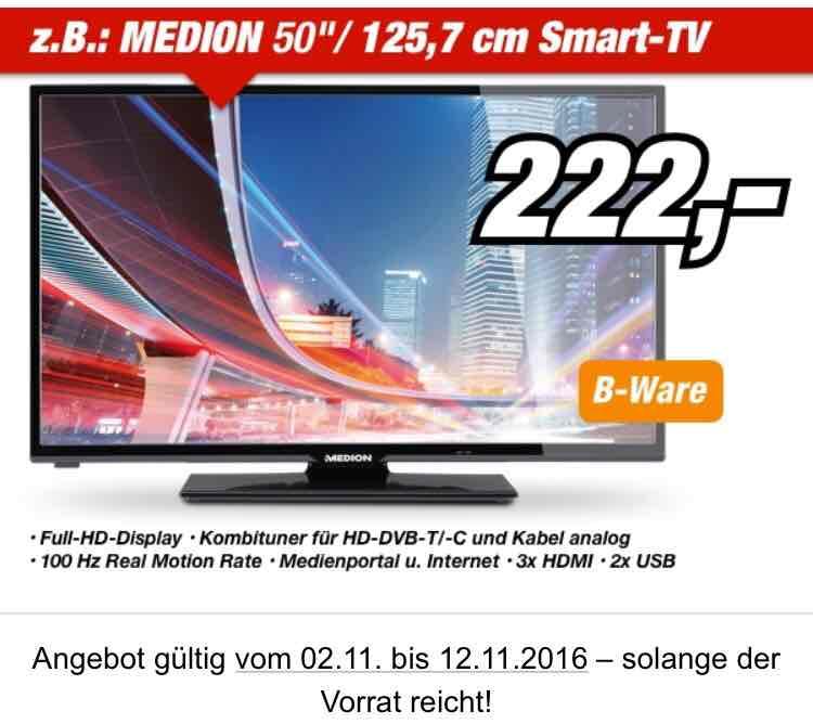"""[Medion Essen] Medion 50"""" Full HD Smart TV (B-Ware) 100Hz, 3xHDMI bis 12.11 bei Medion Fabrikverkauf"""