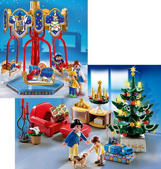 Playmobil 4888 Schlittenkarussell für 9,99 € und 4892 Weihnachtszimmer für 11,99 € [playmobil.de]