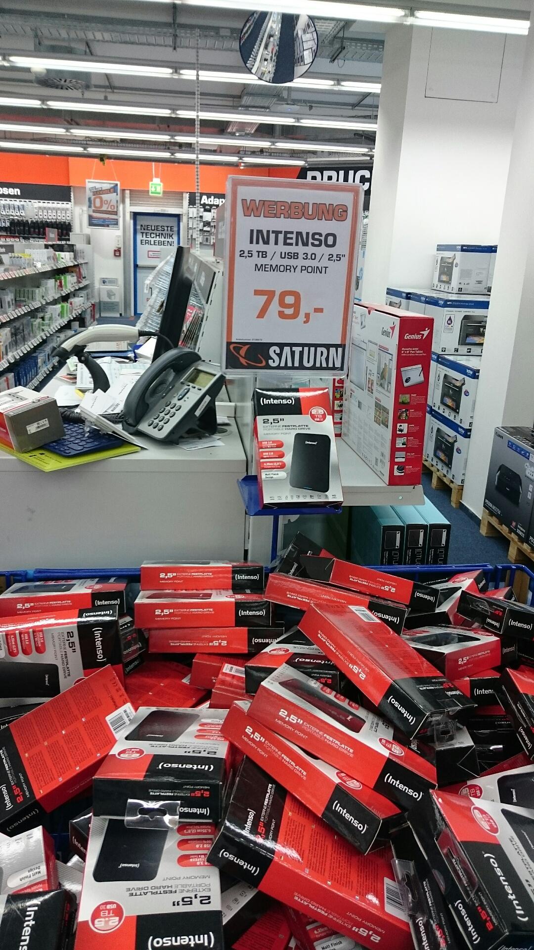 "[LOKAL | Saturn Jena] Intenso Memory Point 2,5"" 2,5 TB USB 3.0 externe Festplatte"