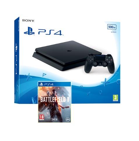 PS4 Slim 500GB + Battlefield 1 oder Fifa 17 + Doom (bzw. anderes Spiel) für 267,27€ [Shopto]