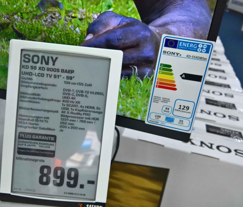Lokal Saturn Koblenz: Sony KD55XD8005 für 899