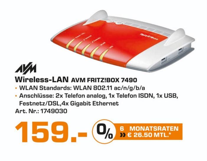 (Lokal) AVM FRITZ!Box 7490 für 159€ @ Saturn Bochum & Hattingen