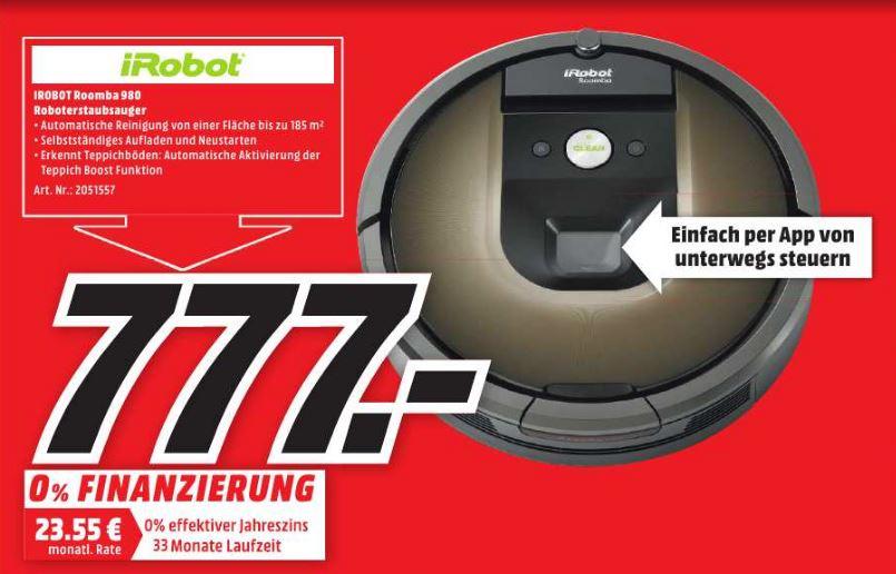 [MEDIA MARKT Idar-Oberstein] iRobot Roomba 980 | Staubsaugerroboter