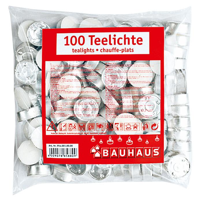 100 Teelichte inkl. Vsk von Bauhaus