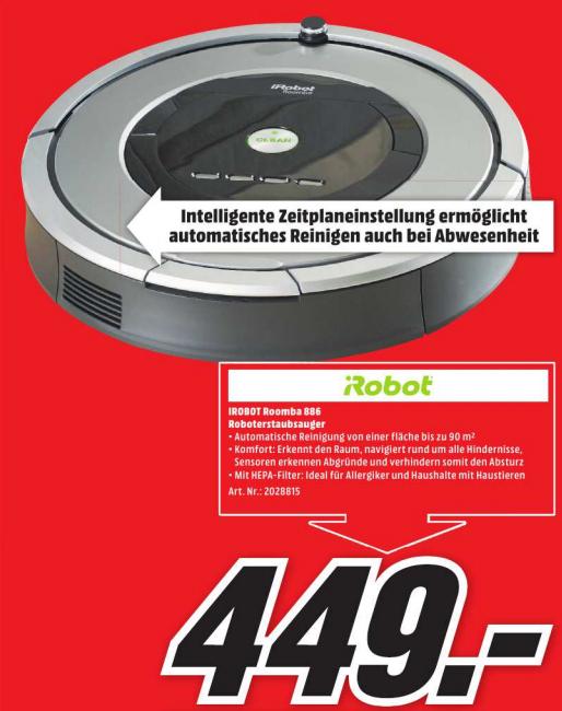 [LOKAL Media Markt Köln City am Dom] iRobot Roomba 886 Roboterstaubsauger