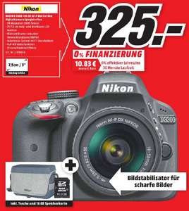 NIKON D3300 AF-P 18-55 mm Fat Box Inkl Tasche und Speicherkarte...UPDATE