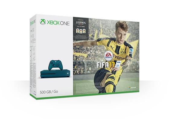 """Gamestop XBOX One S 500 GB FIFA 17 Special Edition (Keine Retoureware) im Tausch gegen alte PS4 + 2 Spiele und 29,99€ oder """"alte"""" XBOX One + 2 Spiele für 59.99"""