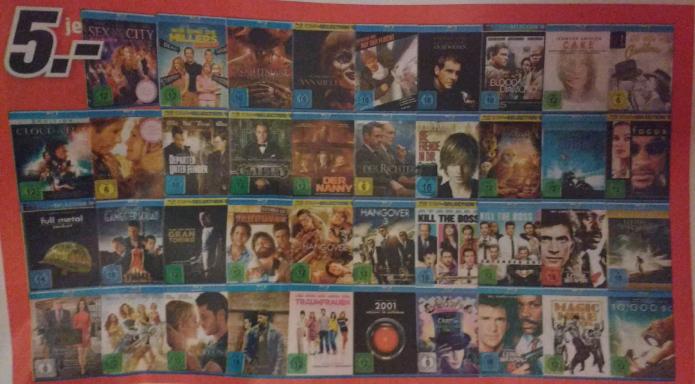[Lokal Nürnberg MM] Diverse Blu-Rays für 5,-€