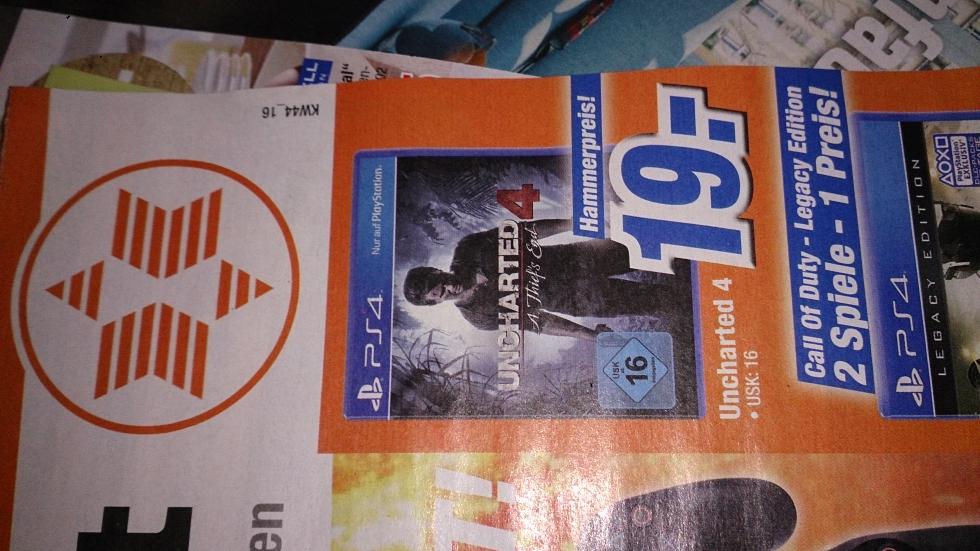 Uncharted 4 (PS4) für 19 Euro [Lokal Expert Lingen]
