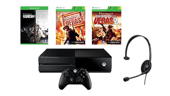 Xbox One 1 TB + Rainbox Six Siege + Vegas 1 & 2 Bundle für 289 Euro (eventuell zusätzlich shoop -ehemals qipu- 2%)