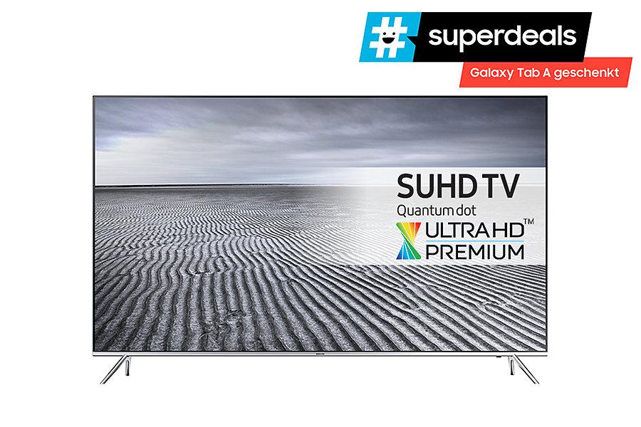 Samsung UE55KS7090 für 1249,- anstatt 1633,- + Galaxy Tab A 10.1 geschenkt (Effektiv 1020,-) deutsches Modell mit echten 100Hz und HDR, Smart TV SUHD im (Mediamarkt Nordhorn)