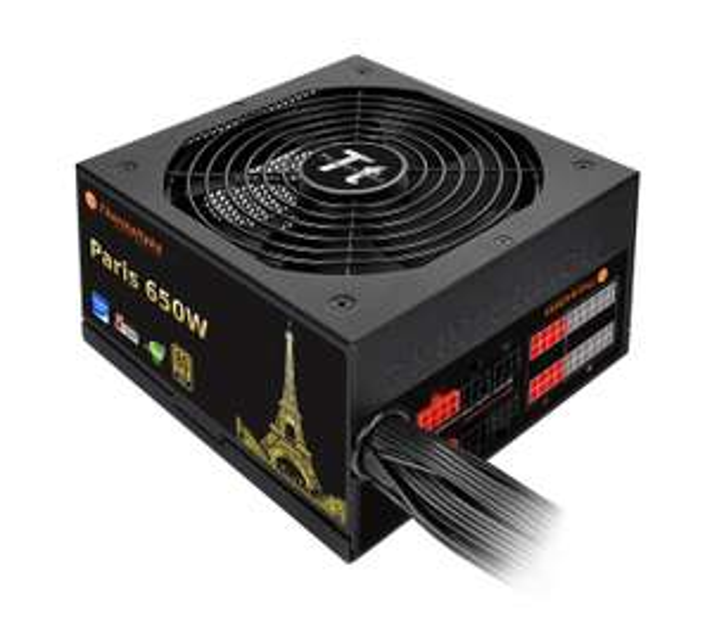Thermaltake Paris Netzteil 650W (80 Plus Gold, teilmodular, 5J Garantie) für 66,74€ [Amazon Prime only]