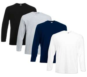 4er Pack Fruit of the Loom Longsleeves für 16,99€