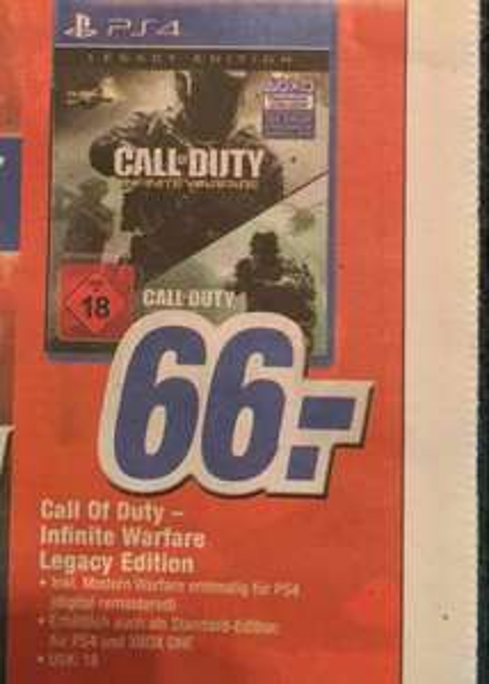 [Lokal Lübbecke] Call of Duty Infinite Warfare (Legacy Edition) bei Expert Döring in Lübbecke für 66€
