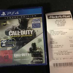 [LOKAL SULZBACH/MTZ]Call of Duty Infinite Warfare Legacy Edition Ps4 79,00 ab sofort im MTZ!!!!