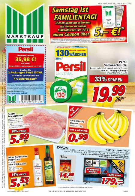 [Marktkauf Sachsen/Thüringen] Persil 2x 130 WL nur 7,2 Cent pro WL