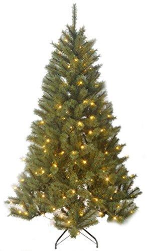 Künstlicher Weihnachtsbaum, beleuchtet, Höhe 185 cm, Durchmesser 114 cm, 190 LED's, 715 Zweige [Amazon] ca. 25 % reduziert