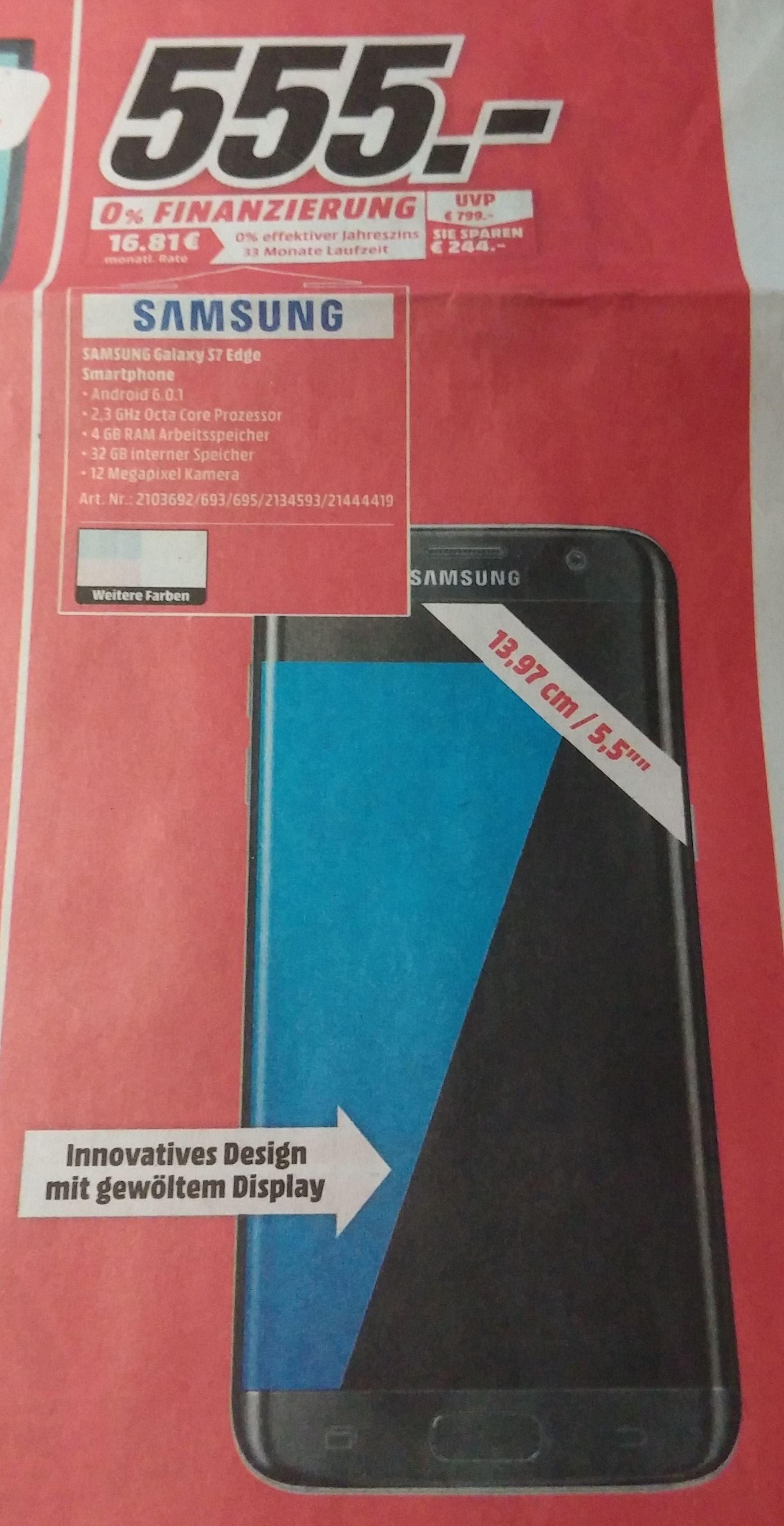 Samsung Galaxy S7 Edge G935F 32GB für 555 €