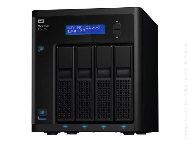 [CH] WESTERN DIGITAL My Cloud EX4100, WDBWZE0320KBK, 32TB (4x 8TB WD Red)
