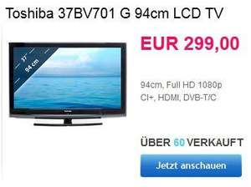 Toshiba 37BV701G 95 cm (37 Zoll) LCD-Fernseher, Energieeffizienzklasse C (Full-HD, 50 Hz, DVB-T/C, CI+) schwarz
