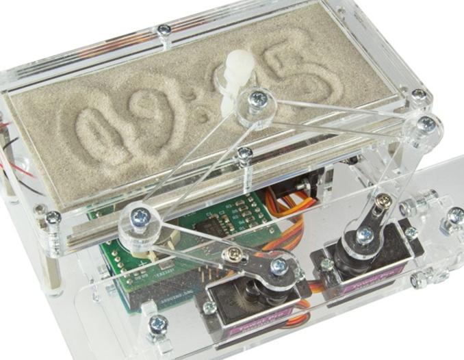 Winterzeit=Bastelzeit! Arduino-Sanduhr: Die Zeit in den Sand schreiben