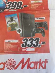 PS4 1TB + 2 Controller + Call of Duty@ MM Kempten