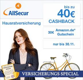 Allsecur Privathaftpflicht mit Gewinn (30€ Cashback + 30€ Amazon)