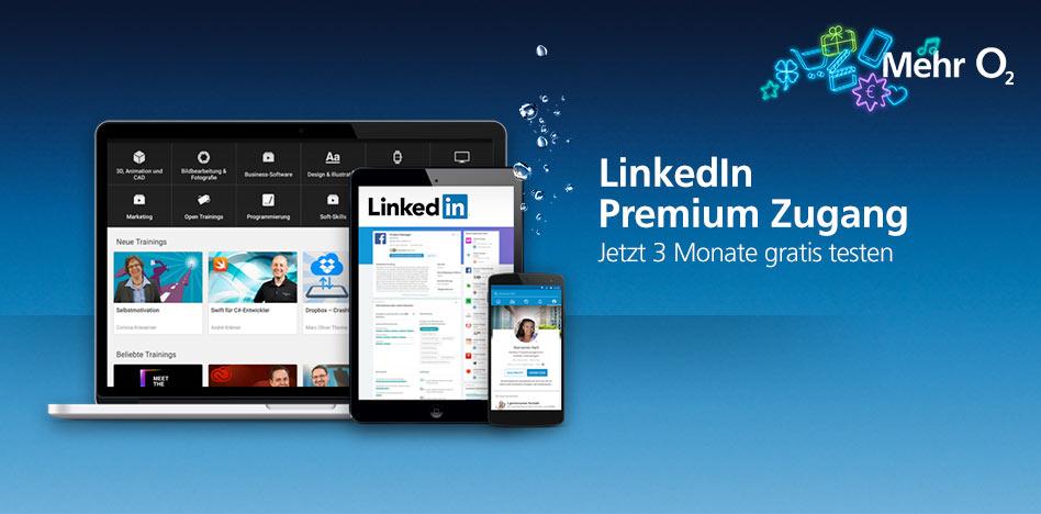 Erinnerung!!! LinkedIn Premium 3 Monate kostenlos testen für O2 Kunden (O2 bzw. E+/Base Direktkunde Silber- und Premium-Kunden)